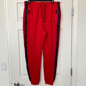 Abercrombie & Fitch Men's red jogger pants